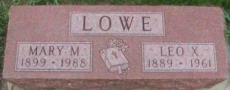 LOWE, LEO X. - Dixon County, Nebraska | LEO X. LOWE - Nebraska Gravestone Photos
