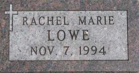 LOWE, RACHEL MARIE - Dixon County, Nebraska | RACHEL MARIE LOWE - Nebraska Gravestone Photos