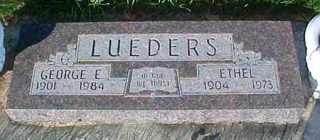 LUEDERS, GEORGE E. - Dixon County, Nebraska | GEORGE E. LUEDERS - Nebraska Gravestone Photos