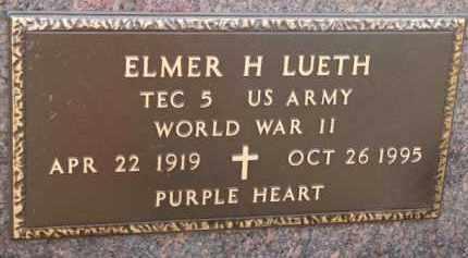 LUETH, ELMER H. (WW II MARKER) - Dixon County, Nebraska | ELMER H. (WW II MARKER) LUETH - Nebraska Gravestone Photos
