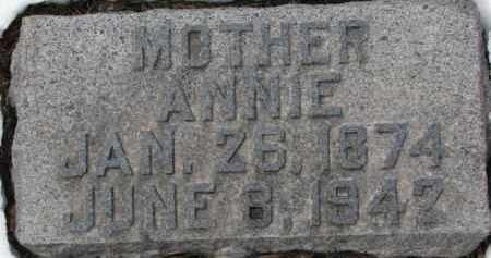 LUKKEN, ANNIE - Dixon County, Nebraska | ANNIE LUKKEN - Nebraska Gravestone Photos
