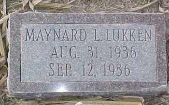 LUKKEN, MAYNARD L. - Dixon County, Nebraska | MAYNARD L. LUKKEN - Nebraska Gravestone Photos