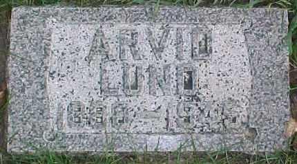LUND, ARVID - Dixon County, Nebraska | ARVID LUND - Nebraska Gravestone Photos