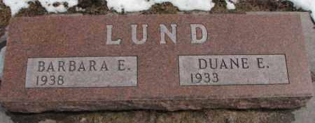 LUND, DUANE E. - Dixon County, Nebraska | DUANE E. LUND - Nebraska Gravestone Photos