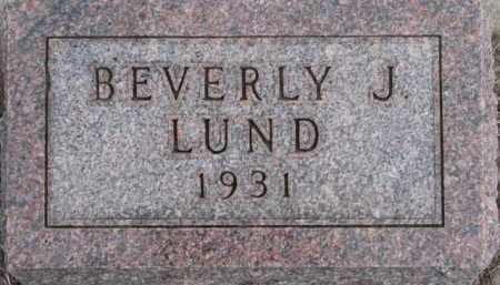 LUND, BEVERLY J. - Dixon County, Nebraska | BEVERLY J. LUND - Nebraska Gravestone Photos
