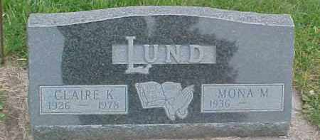LUND, CLAIRE K. - Dixon County, Nebraska | CLAIRE K. LUND - Nebraska Gravestone Photos