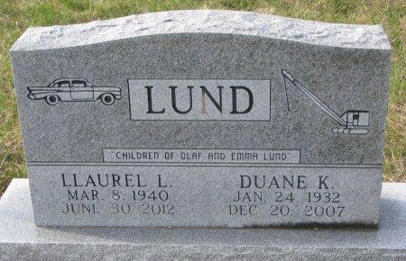 LUND, DUANE K. - Dixon County, Nebraska | DUANE K. LUND - Nebraska Gravestone Photos