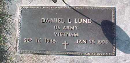 LUND, DANIEL L. (VIETNAM MARKER) - Dixon County, Nebraska | DANIEL L. (VIETNAM MARKER) LUND - Nebraska Gravestone Photos