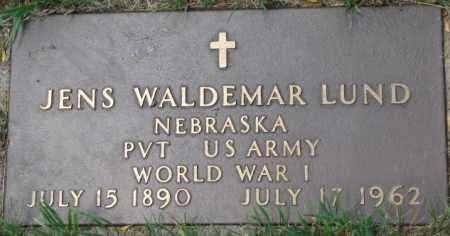 LUND, JENS WALDEMAR - Dixon County, Nebraska | JENS WALDEMAR LUND - Nebraska Gravestone Photos