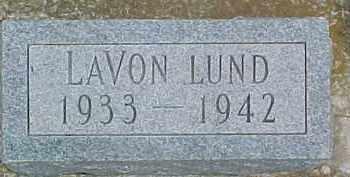 LUND, LAVON - Dixon County, Nebraska | LAVON LUND - Nebraska Gravestone Photos