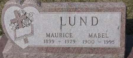 LUND, MABEL - Dixon County, Nebraska   MABEL LUND - Nebraska Gravestone Photos