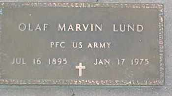 LUND, OLAF M (MILITARY MARKER) - Dixon County, Nebraska | OLAF M (MILITARY MARKER) LUND - Nebraska Gravestone Photos