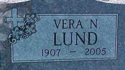 LUND, VERA N. - Dixon County, Nebraska   VERA N. LUND - Nebraska Gravestone Photos