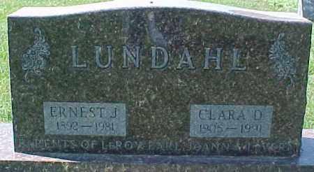 LUNDAHL, ERNEST J. - Dixon County, Nebraska | ERNEST J. LUNDAHL - Nebraska Gravestone Photos