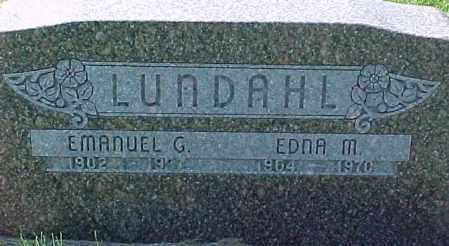 LUNDAHL, EMANUEL G. - Dixon County, Nebraska | EMANUEL G. LUNDAHL - Nebraska Gravestone Photos