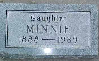 LUNDAHL, MINNIE - Dixon County, Nebraska | MINNIE LUNDAHL - Nebraska Gravestone Photos