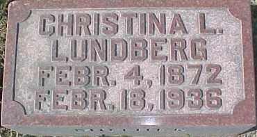 LUNDBERG, CHRISTINA L. - Dixon County, Nebraska | CHRISTINA L. LUNDBERG - Nebraska Gravestone Photos
