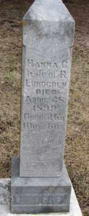 LUNDGREN, HANNA C. - Dixon County, Nebraska | HANNA C. LUNDGREN - Nebraska Gravestone Photos