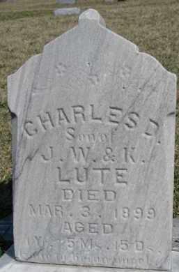 LUTE, CHARLES D. - Dixon County, Nebraska | CHARLES D. LUTE - Nebraska Gravestone Photos