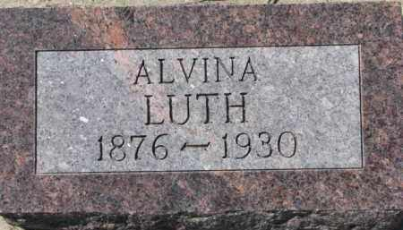 LUTH, ALVINA - Dixon County, Nebraska   ALVINA LUTH - Nebraska Gravestone Photos