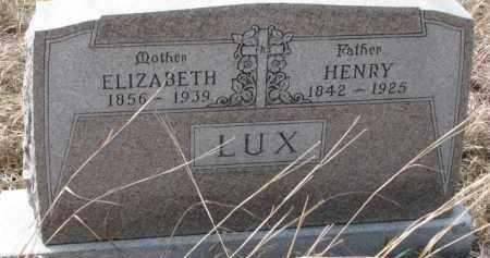 LUX, HENRY - Dixon County, Nebraska | HENRY LUX - Nebraska Gravestone Photos
