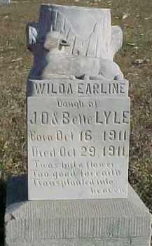 LYLE, WILDA EARLINE - Dixon County, Nebraska | WILDA EARLINE LYLE - Nebraska Gravestone Photos