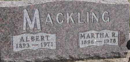 MACKLING, MARTHA R. - Dixon County, Nebraska | MARTHA R. MACKLING - Nebraska Gravestone Photos