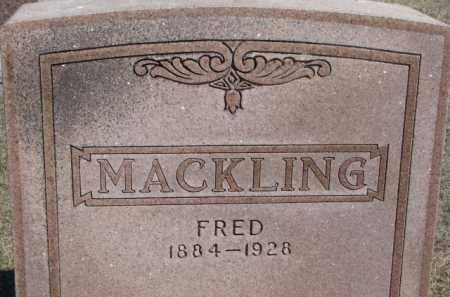 MACKLING, FRED - Dixon County, Nebraska | FRED MACKLING - Nebraska Gravestone Photos