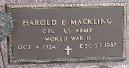 MACKLING, HAROLD E. (WWII MARKER) - Dixon County, Nebraska | HAROLD E. (WWII MARKER) MACKLING - Nebraska Gravestone Photos