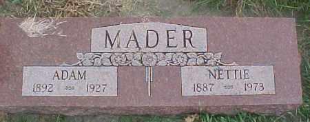 MADER, ADAM - Dixon County, Nebraska | ADAM MADER - Nebraska Gravestone Photos
