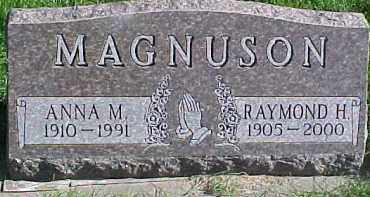 MAGNUSON, ANNA M. - Dixon County, Nebraska | ANNA M. MAGNUSON - Nebraska Gravestone Photos