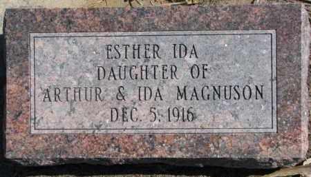 MAGNUSON, ESTHER IDA - Dixon County, Nebraska | ESTHER IDA MAGNUSON - Nebraska Gravestone Photos