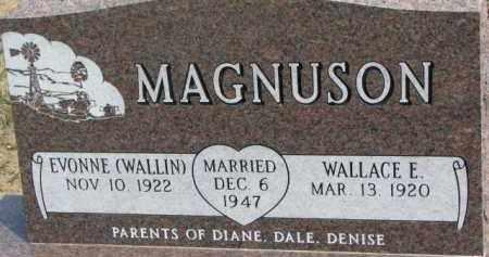 MAGNUSON, WALLACE E. - Dixon County, Nebraska   WALLACE E. MAGNUSON - Nebraska Gravestone Photos