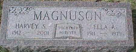 MAGNUSON, ELLA A. - Dixon County, Nebraska | ELLA A. MAGNUSON - Nebraska Gravestone Photos