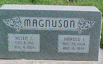 MAGNUSON, HAROLD J. - Dixon County, Nebraska | HAROLD J. MAGNUSON - Nebraska Gravestone Photos