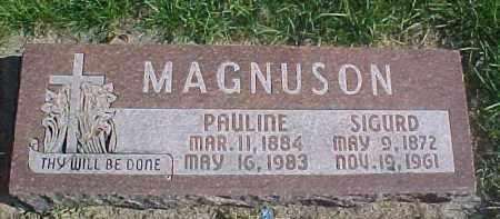MAGNUSON, PAULINE - Dixon County, Nebraska | PAULINE MAGNUSON - Nebraska Gravestone Photos