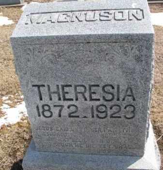 MAGNUSON, THERESIA - Dixon County, Nebraska   THERESIA MAGNUSON - Nebraska Gravestone Photos