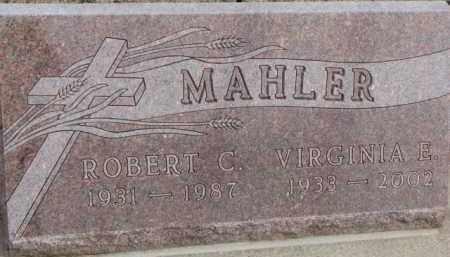 MAHLER, ROBERT C. - Dixon County, Nebraska   ROBERT C. MAHLER - Nebraska Gravestone Photos