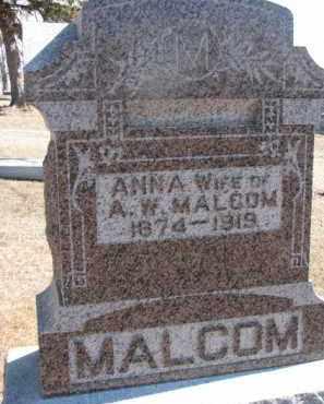 MALCOM, ANNA - Dixon County, Nebraska | ANNA MALCOM - Nebraska Gravestone Photos