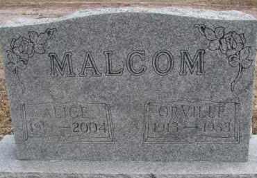 MALCOM, ORVILLE - Dixon County, Nebraska | ORVILLE MALCOM - Nebraska Gravestone Photos