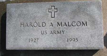 MALCOM, HAROLD A. - Dixon County, Nebraska | HAROLD A. MALCOM - Nebraska Gravestone Photos