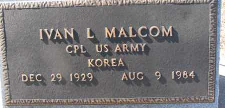MALCOM, IVAN L. - Dixon County, Nebraska | IVAN L. MALCOM - Nebraska Gravestone Photos