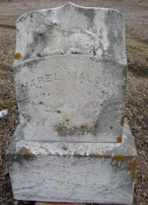 MALCOM, MABEL - Dixon County, Nebraska | MABEL MALCOM - Nebraska Gravestone Photos
