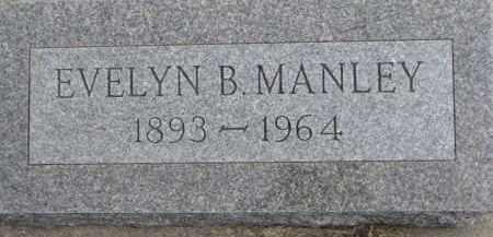 MANLEY, EVELYN B. - Dixon County, Nebraska   EVELYN B. MANLEY - Nebraska Gravestone Photos