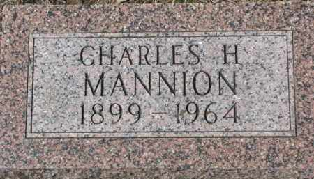 MANNION, CHARLES H. - Dixon County, Nebraska | CHARLES H. MANNION - Nebraska Gravestone Photos