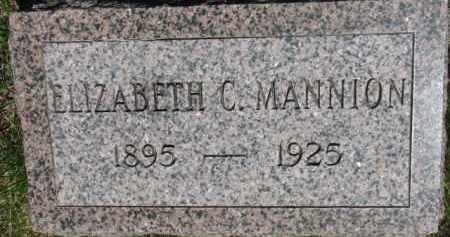 MANNION, ELIZABETH C. - Dixon County, Nebraska   ELIZABETH C. MANNION - Nebraska Gravestone Photos