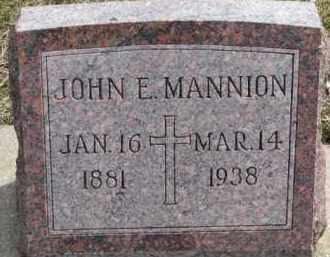 MANNION, JOHN E. - Dixon County, Nebraska | JOHN E. MANNION - Nebraska Gravestone Photos