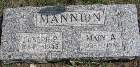 MANNION, MARY A. - Dixon County, Nebraska | MARY A. MANNION - Nebraska Gravestone Photos