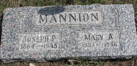 MANNION, JOSEPH P. - Dixon County, Nebraska | JOSEPH P. MANNION - Nebraska Gravestone Photos