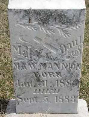 MANNION, MARY E. - Dixon County, Nebraska | MARY E. MANNION - Nebraska Gravestone Photos
